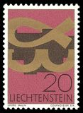Memorable, Christian symbols. Liechtenstein - stamp printed in1967, Memorable, Christian symbols Stock Images