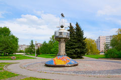 Memorable sign. Kaliningrad, Russia - may 5, 2015: Memorial sign time zones Royalty Free Stock Images