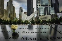 9/11 memoral ground zero, New York Arkivfoton