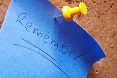 Memorando de Notizzettel- Foto de Stock