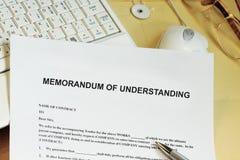 Free Memorandum Of Understanding Concept Stock Images - 102526224