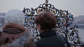 Memoria del corchete Praga gótica almacen de video