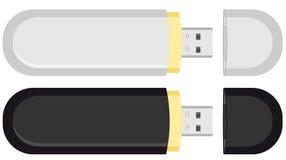 Memoria dell'azionamento dell'istantaneo del USB dei due mobile Fotografie Stock