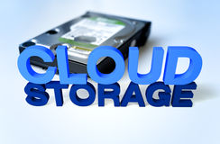 Memoria della nube Fotografie Stock Libere da Diritti