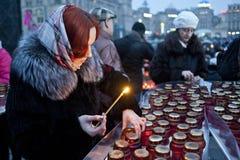 Memoria delle vittime Fotografie Stock Libere da Diritti