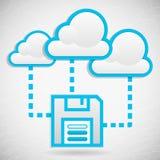 Memoria di dati della nube Fotografie Stock Libere da Diritti