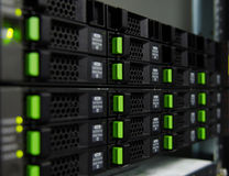 Memoria a dischi di matrice nel centro dati Fotografie Stock