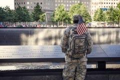 Memoria eterna a 9/11 de los victums Imagen de archivo