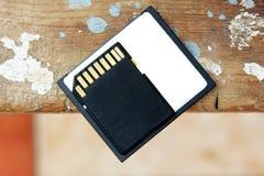 Memoria SD con la tarjeta flash compacta Fotos de archivo libres de regalías