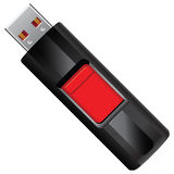 Memoria USB ilustración del vector
