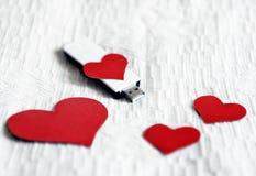 Memoria USB con forma del corazón Imagen de archivo libre de regalías