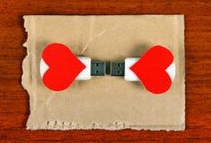Memoria USB con formas del corazón Imagen de archivo