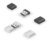 Memoria USB del palillo del USB Fotografía de archivo
