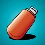 Memoria USB del vector Fotografía de archivo