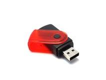 Memoria USB en aislante Fotos de archivo libres de regalías