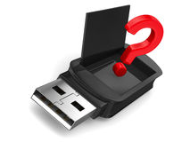 Memoria USB en el fondo blanco Imagen de archivo
