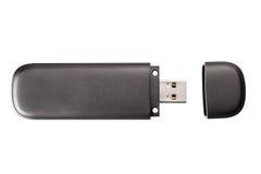 Memoria USB negra Fotografía de archivo libre de regalías