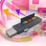 Memoria USB y libros libre illustration