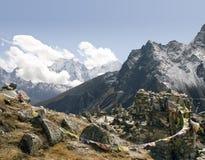 Memoriais de Chukpilhara - Nepal fotos de stock royalty free