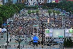 Memoriais para os protestos da Praça de Tiananmen de 1989 Imagem de Stock