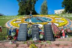Memorial às vítimas da revolução em 2014, protestos antigovernamentais em Maidan Fotografia de Stock Royalty Free