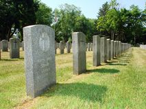 Memorial. World War I section of a cemetary Stock Image