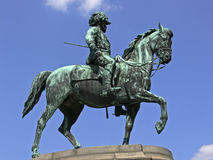 Memorial. Bronze cavalier statue in Vienna stock image
