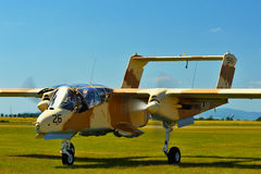 Memorial Airshow. Vintage Rockwell OV-10 Bronco light attack aircraft Royalty Free Stock Photo
