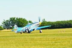 Memorial Airshow. WW II P51 Mustang Randolph Stock Image
