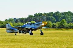 Memorial Airshow. WW II P51 Mustang Randolph Royalty Free Stock Images