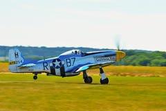 Memorial Airshow. WW II P51 Mustang Randolph Stock Photography