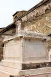 Memorial altar in the ancient Roman Herculaneum, Italy Royalty Free Stock Photography