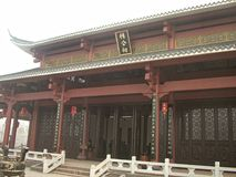 Memorial Ancestor Hall-Hakka Ancestral Hall. In the southern countrye of Jiangxi, there are ancestral shrine in the village. The ancestral temple is a symbol of Stock Photography