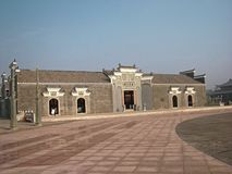 Memorial Ancestor Hall-Hakka Ancestral Hall. In the southern countrye of Jiangxi, there are ancestral shrine in the village. The ancestral temple is a symbol of Royalty Free Stock Images