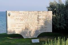 Memorial at Beach Cemetery, Anzac Cove, Gallipoli, Turkey Royalty Free Stock Photos
