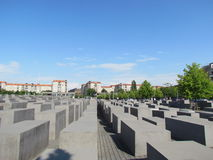 Memorial aos judeus assassinados de Europa Imagens de Stock