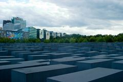 Memorial aos judeus assassinados de Europa Imagens de Stock Royalty Free