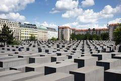Memorial aos judeus assassinados em Berlim, Alemanha Imagens de Stock