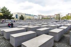 Memorial aos judeus assassinados em Berlim, Alemanha Fotos de Stock Royalty Free