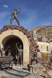 Memorial aos mineiros em Oruro, Bolívia foto de stock royalty free