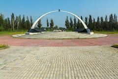 Memorial aos soldados de Omsk, vítimas de guerras locais e de hot spot Parque da cultura e do resto nomeados após a 30a Foto de Stock