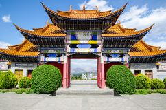 Memorial arch building architecture, china artwork. Great beautiful arch of Chinese gate Stock Image