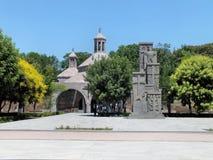 Memorial armênio do genocídio na frente do Baptistery, Etchmiadzin de Vartan de Saint Foto de Stock Royalty Free