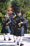 Memorial Bagpiper. The Chula Vista Honor Guard plays during the Law Enforcement memorial held at the Chula Vista Peace Office Memorial in May stock photography