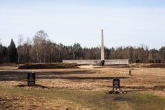 memorial at Bergen Belsen Stock Image