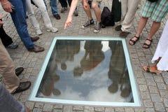 Memorial Berlim de Bebelplatz Fotografia de Stock