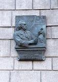 The memorial board dedicated to the sculptor Zair Azgur Royalty Free Stock Photo