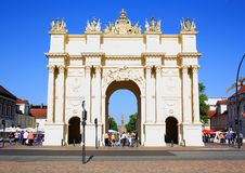 Memorial, Brandenburg Gate in Potsdam Stock Image