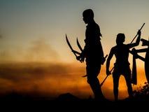 Memorial bravery. Tung Sumrit : Bravery Korat land Stock Images