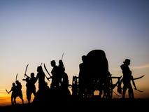 Memorial bravery. Tung Sumrit : Bravery Korat land Royalty Free Stock Image